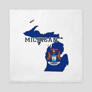 Michigan Flag Queen Duvet