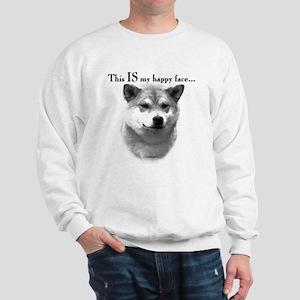 Shiba Inu Happy Face Sweatshirt