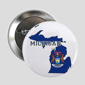 "Michigan Flag 2.25"" Button"