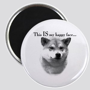 Shiba Inu Happy Face Magnet