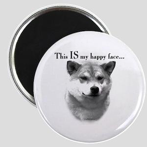 Shiba Inu Happy Face Magnet