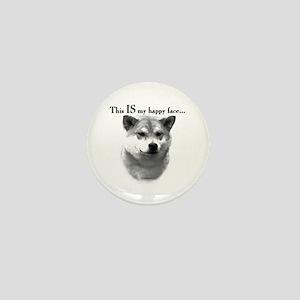 Shiba Inu Happy Face Mini Button