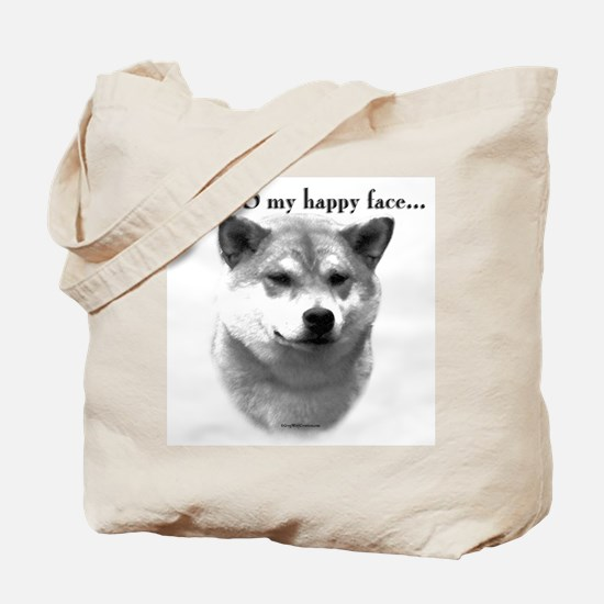 Shiba Inu Happy Face Tote Bag