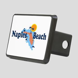 Naples Beach - Map Design. Rectangular Hitch Cover