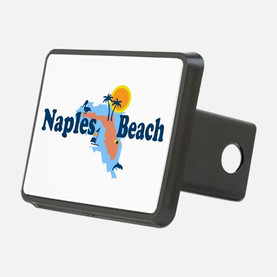 Naples Beach - Map Design. Hitch Cover