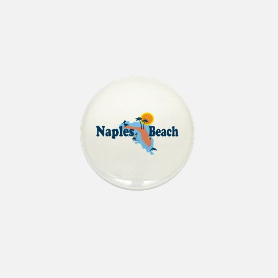 Naples Beach - Map Design. Mini Button