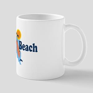 Naples Beach - Map Design. Mug