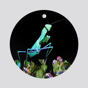 Helaine's Praying Mantis 2 Ornament (Round)