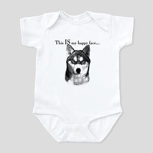 Husky Happy Face Infant Bodysuit