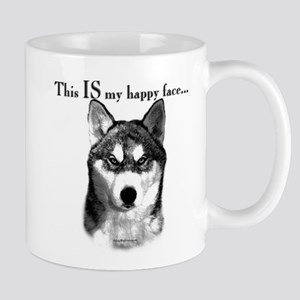 Husky Happy Face Mug