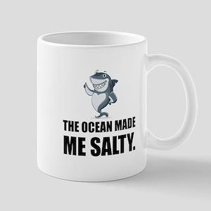 Ocean Made Me Salty Shark Mugs