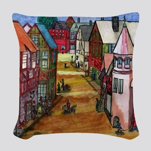 The Village Woven Throw Pillow