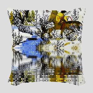 Winter Warrior Reflection Woven Throw Pillow