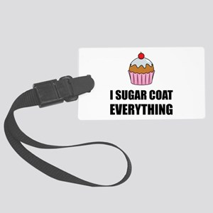 Sugar Coat Everything Cupcake Luggage Tag