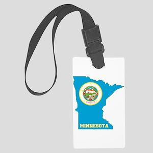 Minnesota Flag Large Luggage Tag