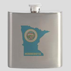 Minnesota Flag Flask