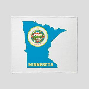 Minnesota Flag Throw Blanket
