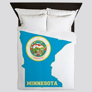 Minnesota Flag Queen Duvet