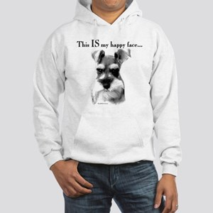 Std. Schnauzer Happy Face Hooded Sweatshirt