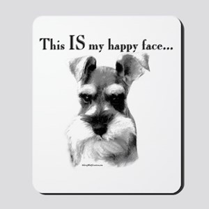 Std. Schnauzer Happy Face Mousepad