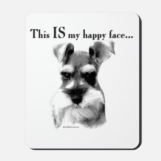 Std. Schnauzer Happy Face Mousepad