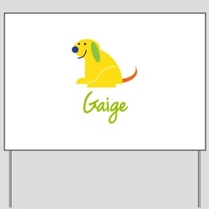 Gaige Loves Puppies Yard Sign