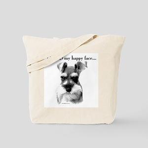 Std. Schnauzer Happy Face Tote Bag