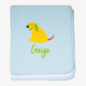Gaige Loves Puppies baby blanket