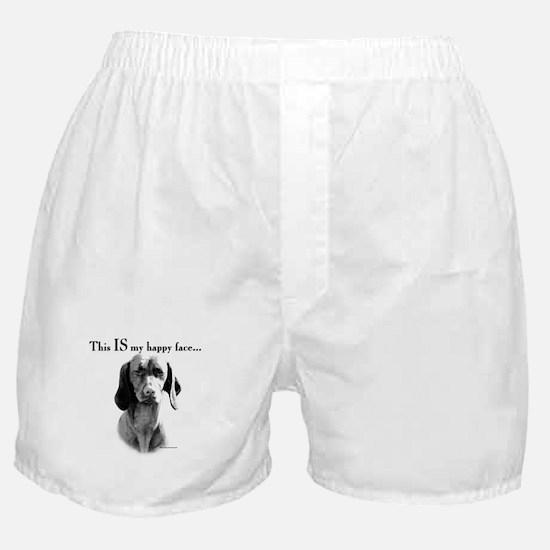 Vizsla Happy Face Boxer Shorts