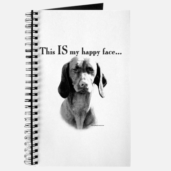 Vizsla Happy Face Journal