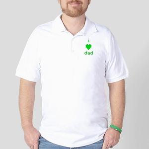 i heart dad (green) Golf Shirt