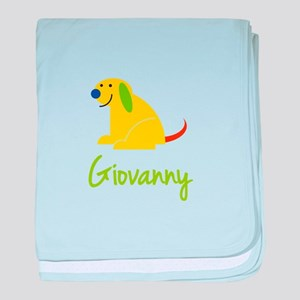 Giovanny Loves Puppies baby blanket