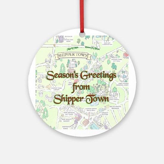 Shipper Town Ornament (Round)