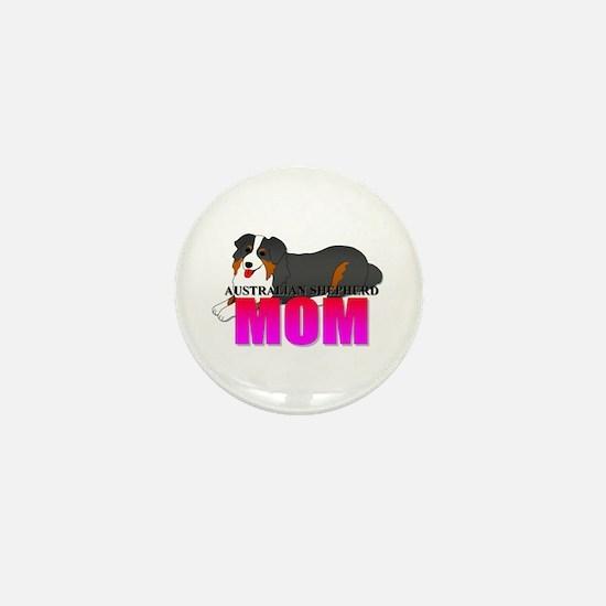 Australian Shepherd Mom Mini Button