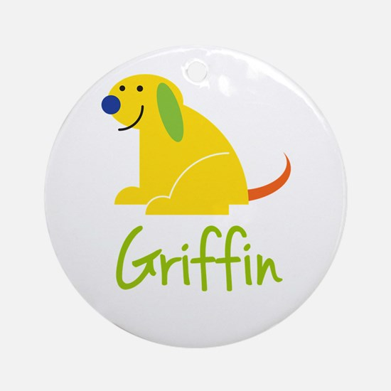 Griffin Loves Puppies Ornament (Round)