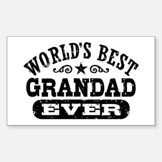 World's Best Grandad Ever Sticker (Rectangle)
