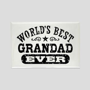 World's Best Grandad Ever Rectangle Magnet