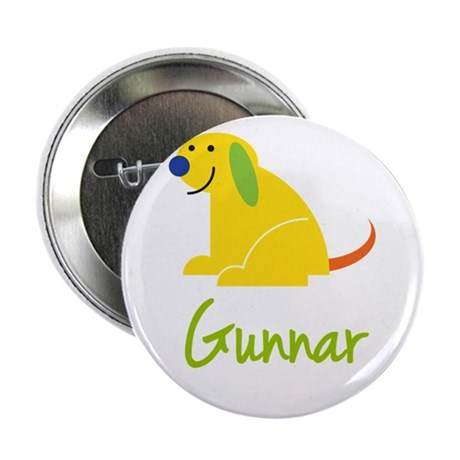 "Gunnar Loves Puppies 2.25"" Button"