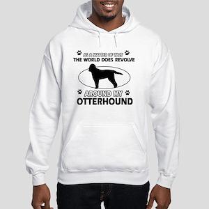 Otterhound dog funny designs Hooded Sweatshirt