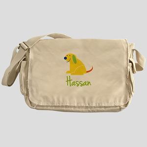 Hassan Loves Puppies Messenger Bag