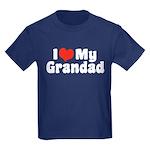 I Love My Grandad Kids Dark T-Shirt