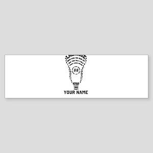 Lacrosse Defense Head Custom Bumper Sticker