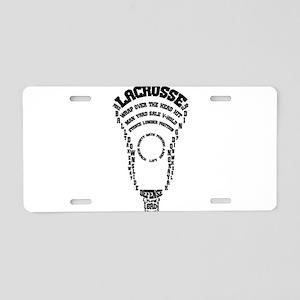 Lacrosse Defense Words Aluminum License Plate