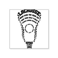Lacrosse Defense Words Sticker