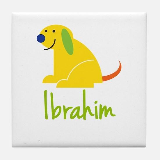 Ibrahim Loves Puppies Tile Coaster