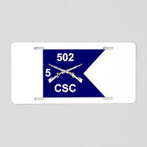 CSC/5/502 Aluminum License Plate