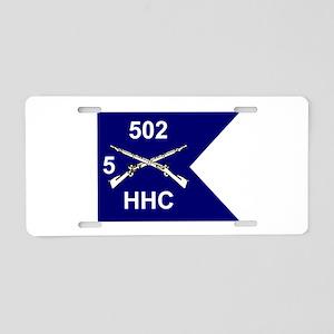 HHC/5/502 Aluminum License Plate