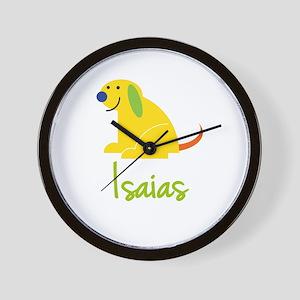 Isaias Loves Puppies Wall Clock