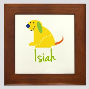 Isiah Loves Puppies Framed Tile