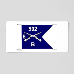 B/5/502 Aluminum License Plate